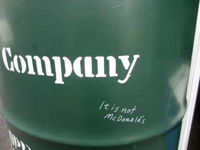 It is not McDonald's